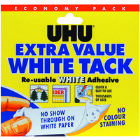 Uhu White Tack Economy 43527 (Pack of 6)